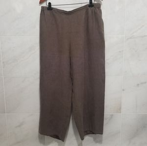 Flax Brown Linen Wide Leg Lagenlook Pant